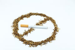 No smoking sign. Made of tobacco Royalty Free Stock Images