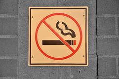 No smoking sign Royalty Free Stock Photography