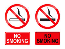 No smoking sign. Isolated on a white background (vector royalty free illustration