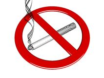 No-smoking sign Stock Photo