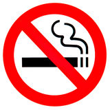 No smoking sign. Red and black no smoking sign Stock Photography