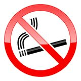 No Smoking Sign. Vector No Smoking Sign on white background stock illustration