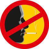No smoking sign. On a white background Stock Photos