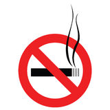 No smoking sign. Isolated on white. AI vector. Size and color can be changed Stock Photography