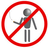 No smoking sign. Illustration of a no smoking sign on white background stock illustration