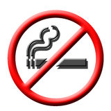 No smoking sign. Red and white smoking not allowed illustration Royalty Free Stock Photo