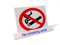 No Smoking Sign. 3d-illustration of a icon sign NO SMOKING royalty free illustration