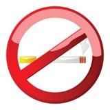 No smoking sign. Glossy illustration of a no smoking sign royalty free illustration
