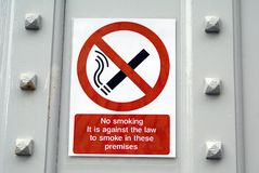 No smoking sign Royalty Free Stock Images