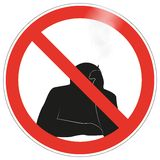 No smoking sign background vector. No smoking warning sign background vector illustration Stock Image