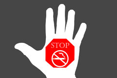 No smoking sign on black and white background, May - 31 World No Stock Image