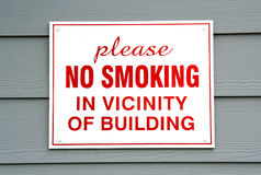 No Smoking Sign on Building Royalty Free Stock Photography