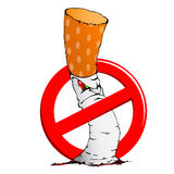 No smoking sign with a cigarette Royalty Free Stock Photography