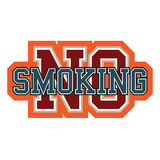 No smoking. Sign College Style Royalty Free Stock Photography