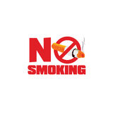No smoking sign color vector. Illustration Stock Photography