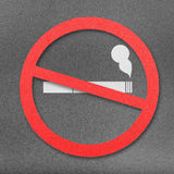 No smoking sign cut from paper craft on paper background Stock Photo