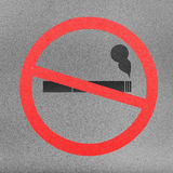 No smoking sign cut from paper craft on paper background Royalty Free Stock Photos
