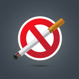 No smoking sign on Dark background Stock Photography