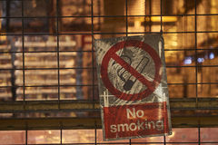 No Smoking. Sign in a factory Royalty Free Stock Photography