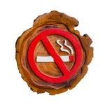 No smoking sign, handmade from wood Stock Photo