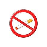 No smoking sign icon, cartoon style Stock Photo