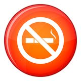 No smoking sign icon, flat style Royalty Free Stock Photography