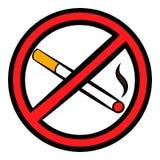 No smoking sign icon, icon cartoon Royalty Free Stock Photos