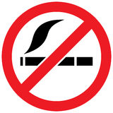 No smoking sign -  illustration Royalty Free Stock Photography