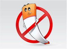 No Smoking Sign with Illustration Royalty Free Stock Images