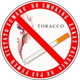 No Smoking Sign. In 4 languages Royalty Free Stock Images
