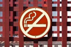 The No smoking sign made from wood Royalty Free Stock Image