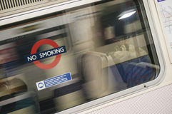 No smoking sign in metro station Royalty Free Stock Image