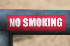 No Smoking Sign On Mountain Park Gate Stock Images