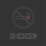 No smoking sign. No smoke icon. Royalty Free Stock Image