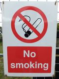 No smoking sign. Outside a children`s play area royalty free stock photography
