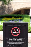 No smoking sign outside the Natural History museum Royalty Free Stock Photography