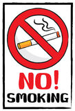 No smoking sign in painting brush style Stock Image