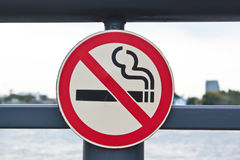 No smoking sign in park. Royalty Free Stock Image