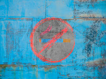 No smoking sign. Photo of no smoking sign on dusty blue background Royalty Free Stock Image