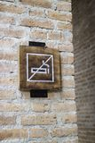 No smoking sign in pubic place. Stock photo royalty free stock image