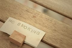 No smoking sign in the public park. Royalty Free Stock Photos