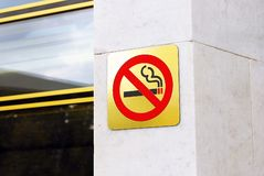 No smoking sign. Royalty Free Stock Images