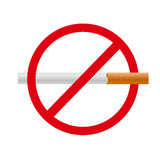 No smoking  sign. Smoke Royalty Free Stock Photo