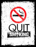 No smoking sign. Stop smoke symbol. Rough Healthcare Grunge Background Royalty Free Stock Photography