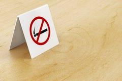 No smoking sign on table Stock Image