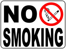 No smoking sign with text and picture illustration Royalty Free Stock Images