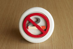 No Smoking Sign with text space Stock Photography