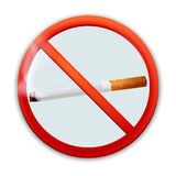 No smoking sign. Vector icon badge isolated on white background,  cigarette label Stock Photos
