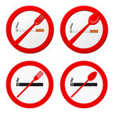 No smoking sign vector Royalty Free Stock Images