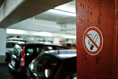 No smoking sign on the wall Royalty Free Stock Photo